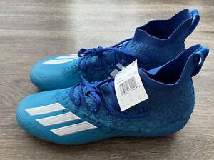 Adidas Adizero Primeknit Football Cleats Blue Size 11 EH1299 $120
