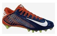 Nike Vapor Carbon 2.0 Elite Football Cleats Navy Blue/Orange TD 657441-406 Sz 15