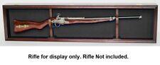 Gun Display Case Cabinet Glass Wall Mount Rifle Shotgun Rack Lockable War Trophy