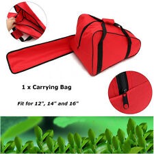 NEW Red 12/14/16'' Chainsaw Bag Saw Carry Case Protective Holdall Chain Saw Box
