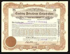 Cushing Petroleum Corporation USA 1920 !!!!!!
