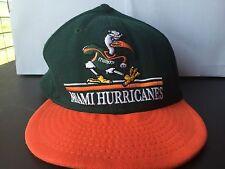 Miami Hurricanes Snapback Green Orange Hat Cap Authentic New Era