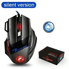 Ergonomic Gaming USB Wired 5500 DPI Silent Mice LED Backlight 7 Button Mouse