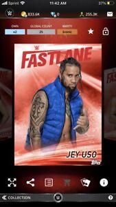 Topps WWE Slam *Digital* 2019 Fastlane Red Base - Jey Uso 25cc