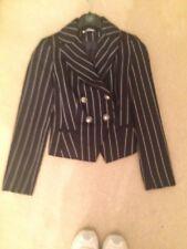mark one striped  jacket size 10