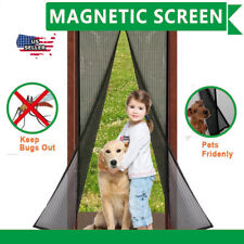 """Magnetic Screen Door Full Frame Mosquito Bug Curtain 38""""X 83"""" safe"""
