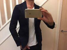 Armani Exchange Para Hombre Chaqueta Blazer 38 Nuevo Elástico Azul Marino agradable con Vaqueros Rrp £ 224