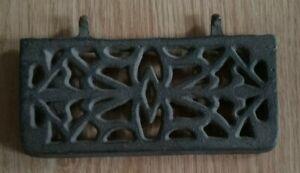 Vintage Cast Iron Wood Cook Stove Plate Salvage Repurpose Decorative