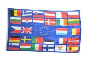 Fahne Europäische Union EU mit 28 Länder Flagge europäische Hissflagge 90x150cm