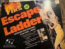 Vintage M&G 15' Emergency Fire Escape Ladder In original box