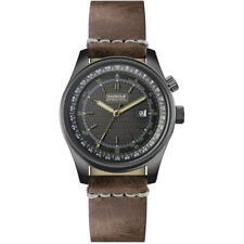 Barbour International Boldon brown leather date watch BB038SLTN