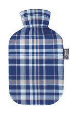 Fashy Wärmflasche mit Baumwollbezug im Karodesign - 2,0l