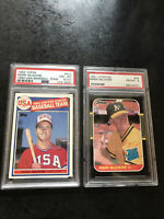 Mark McGwire 2-card lot 1)1985 Topps PSA 8 NM-MT and 1) 1987 Donruss PSA 8 NM-MT