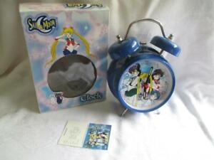 SAILOR MOON Quartz Alarm Clock Bell Ring~Blue~by Urban Station~NEW in Box