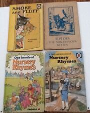 Ladybird 4 Various Nursery Rhymes Smoke And Fluff Tiptoes Used Good Condition