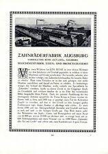 Zahnrad Fabrik Renk Augsburg XL Reklame 1922 Zahnräderfabrik Jakobtor +