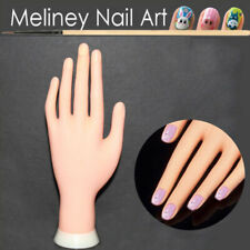 Flexible Practice Training Fake Hand Model Manicure Nail Art Training Tool Surp