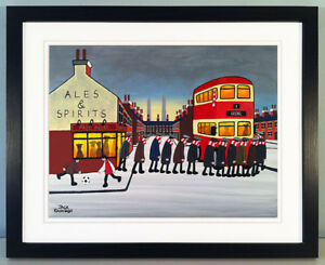 """JACK KAVANAGH """"GOING TO THE MATCH"""" ARSENAL FRAMED PRINT"""