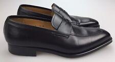 Magnanni Adora Black Leather Penny Loafers Mens 9.5 M Slip On Dress Shoes 16247