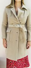 Max Mara Camel Wool Double Breasted Belted Womens Trench Coat. Size 2-4, XS/S