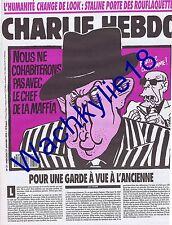 Charlie Hebdo n°31 du 27/01/1993 Pasqua Cabu