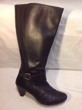 Good For The Sole Black Mid Calf Leather Boots Size 41