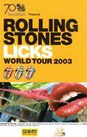 ROLLING STONES 2003 WORLD LICKS TOUR THAI CONCERT TICKET-BANGKOK-JAGGER-NM 2 MNT