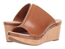 Women's Shoes Clarks ANNADEL MOLLY Platform Wedge Slide Sandal 39960 TAN