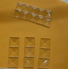 (box of 30) 3/4 x 3/4 inch Square Clear Glass Bevel are beveled top flat on back