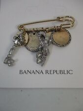 Banana Republic Treasure Trove Charm Key Pin Brooch NWT $68