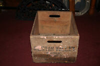 Antique Raritan Valley Farms Somerville NJ Wood Milk Bottle Carrier Box w/Handle