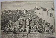 CARL REMSHART D'APRES ENGELBRECHT, GRAVURE VERS 1730, JARDIN AUGSBOURG SCHAUER