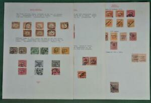 EGYPT STAMPS OFFICIALS ON 3 PAGES  (R132)
