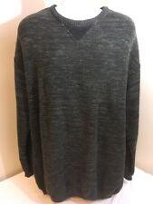 L. Etienne Pour Homme Mens Sweater Green & Multicolor USA Made 100% Cotton 2XLT