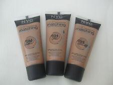 3 X NYC Skin Matching Foundation Tawny Medium No 694 New