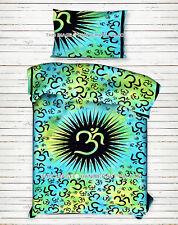 Indian Om Tie Dye Mandala Tapestry Wall Hanging Hippie Bedspread Bohemian Throw