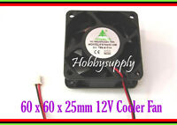 2pcs 12V 60x60x25mm DC Axial Cooling CPU Fan Computer Laptop Server 3D Printer