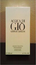 Acqua Di Gio 6.7 oz 200 ml Giorgio Armani EDT Pour Homme Men Eau Toilette Sealed