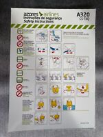 AZORES AIRLINES A320 CS-TKQ SAFETY CARD
