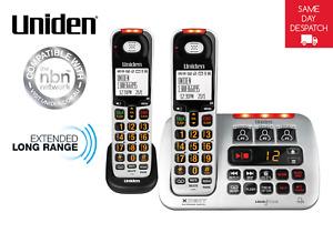 UNIDEN SS E45+1 VISUAL & HEARING IMPAIRED CORDLESS DIGITAL PHONE SYSTEM INTERCOM