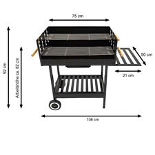 TOP Ventus Holzkohlegrill Grillwagen Grill BBQ Smoker Holzkohle Gartengrill