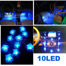 DC 12V Car Interior 10 LED Decoration Foot Well Neon Flash Lights Lamp Blue