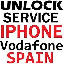 Vodafone Spain Premium Unlock Service iPhone 7+ 7 6S+ 6S 6+ 6 5S 5C 5 4S 4 CODE