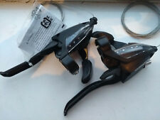 Shimano Acera Ergo 8 & 3, 24 speed cycle bike gear shifters set V or Cantilever