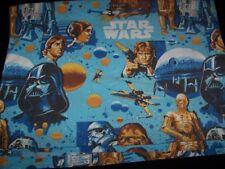 Star Wars 1977 Flat Twin Bed Sheet Vintage Original Movie Material