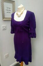 Karen Millen Beautiful Jewel Purple Jumper Dress Size 4 (UK Size 8) Excellent...