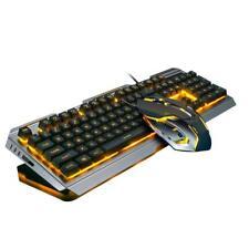 V1 USB Kabel Gaming Tastatur Wireled mechanische Keyboard Mouse Set Aluminium
