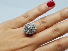 Bague ancienne Or blanc 18 carats 750/1000 Diamants 1 carat 7.25 grammes
