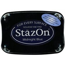 StazOn Solvent Ink Pad MIDNIGHT BLUE SZ-62 Tsukineko Brand New!