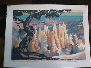 Louis Ewing Santa Fe Artist 1908-1983 Serigraph, Bryce Canyon National Park